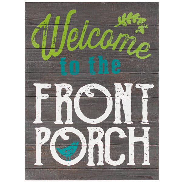 Welcome to the Front Porch Rustic Wood Wall Art