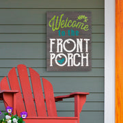 Rustic Welcome to the Front Porch Wooden Wall Art