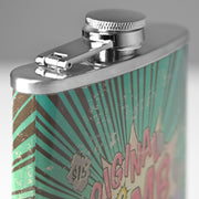 Original Bomb Juice Stainless Steel 8 oz Liquor Flask