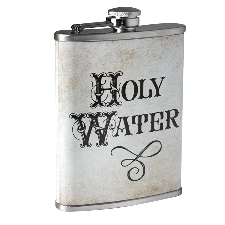 Holy Water Stainless Steel 8 oz Liquor Flask