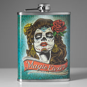 Magic Elixir Day of the Dead Stainless Steel 8 oz Liquor Flask