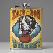Hair of the Dog Whiskey Stainless Steel 8 oz Liquor Flask