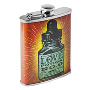 Love Potion No. 9 Stainless Steel 8 oz Liquor Flask