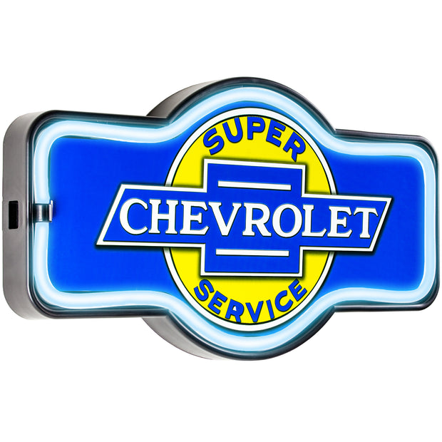 Officially Licensed Chevrolet Super Service LED Sign