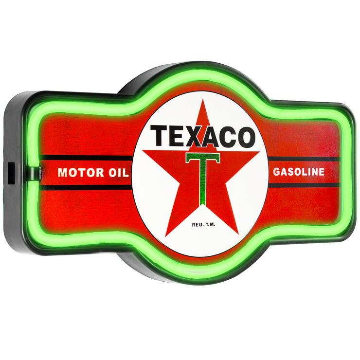 "Officially Licensed Vintage Texaco LED Neon Light Up Sign (9.5"" x 17.5"")"