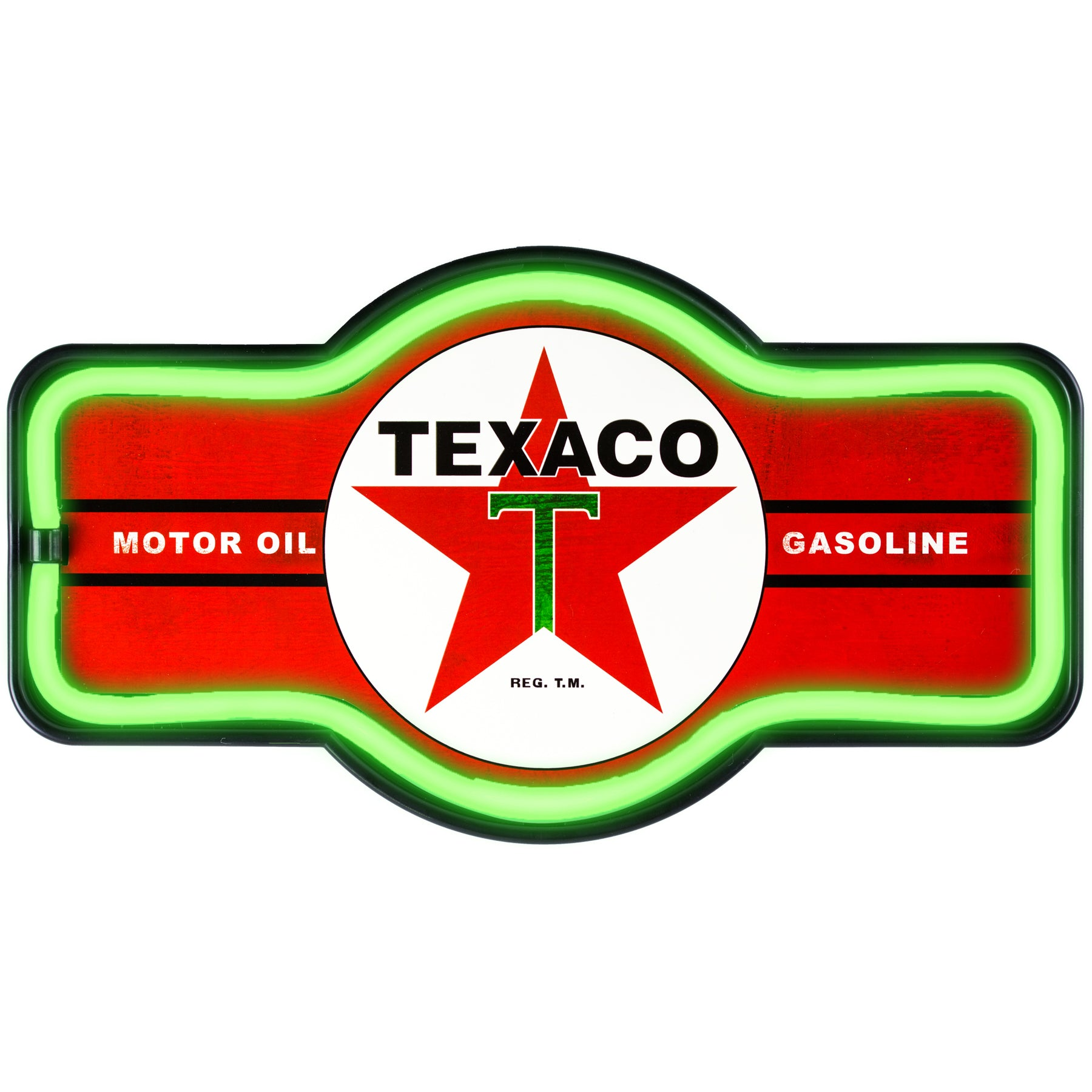 """Officially Licensed Vintage Texaco LED Neon Light Up Sign (9.5"""" x 17.5"""")"""