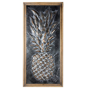 Metal Framed Pineapple Wooden Art