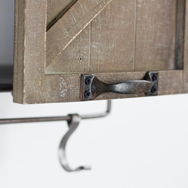 Rustic Sliding Barn Door Coat/Towel Rack