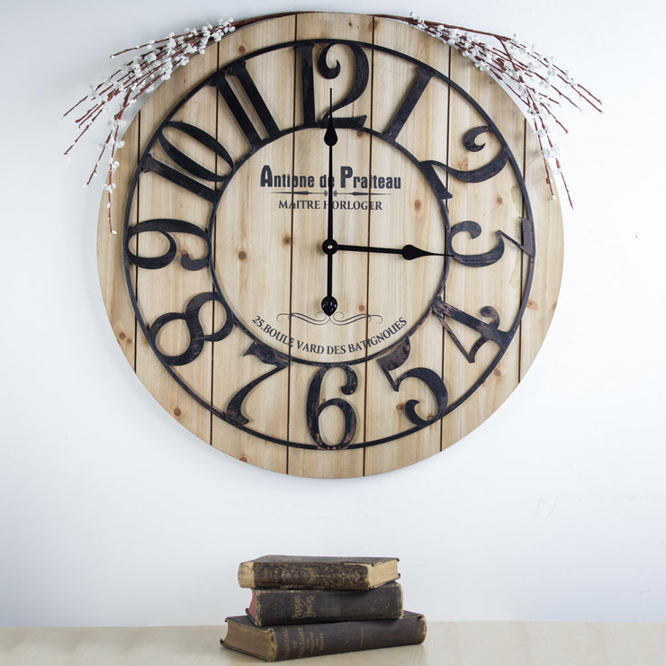 "French Antoine de Praiteau Large 26"" Wall Clock"