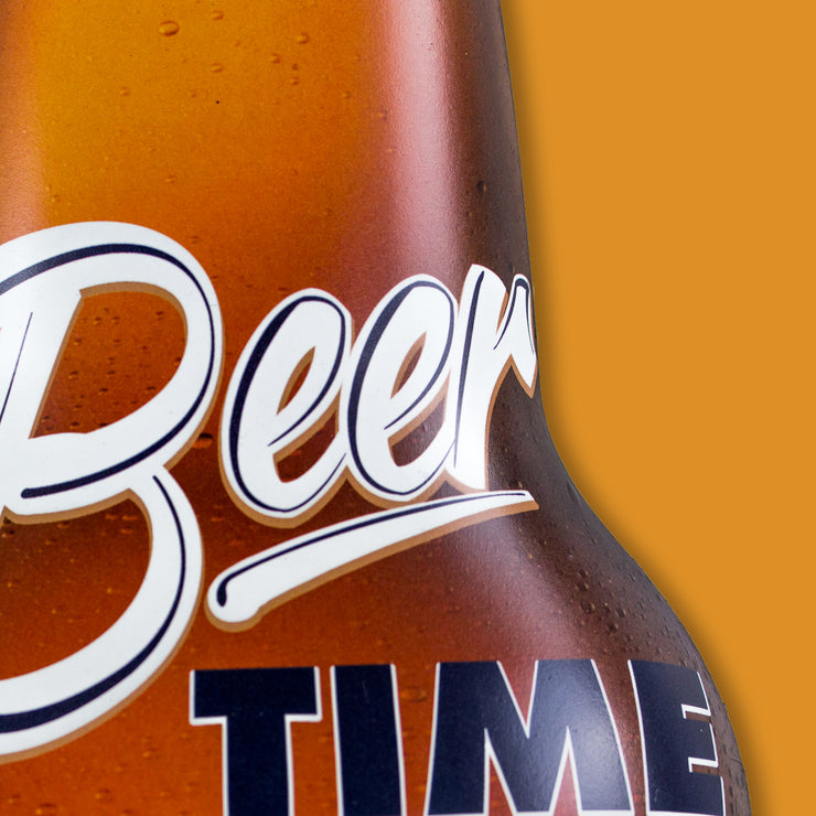 Beer Time Wall Mounted Bottle Opener & Cap Catcher