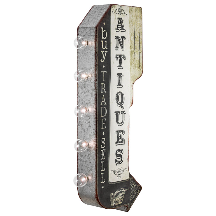 Antiques Buy Trade Sell Vintage LED Marquee Arrow Sign