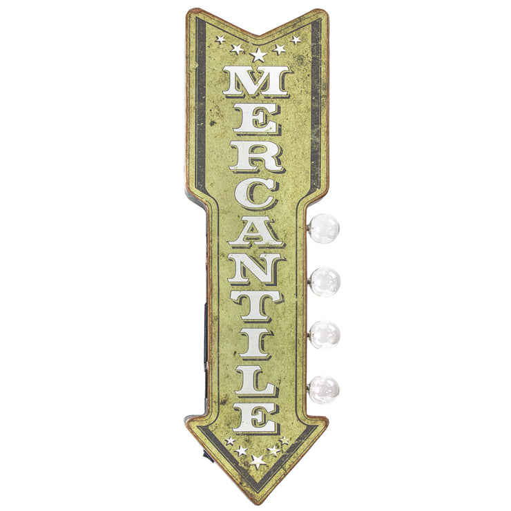 Mercantile Vintage LED Sign
