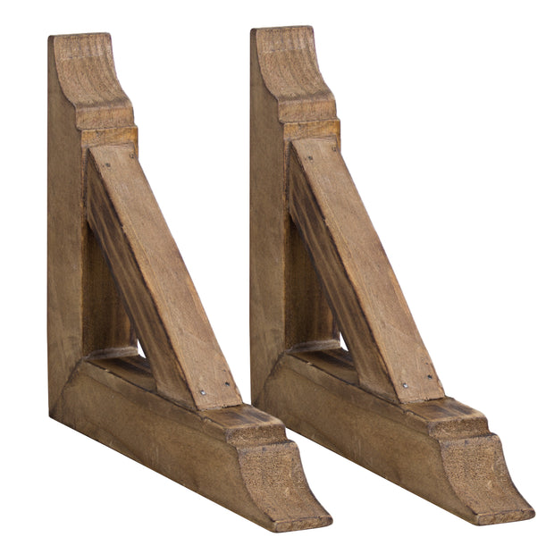 Rustic Wood Corbels Brackets (Set of 2)