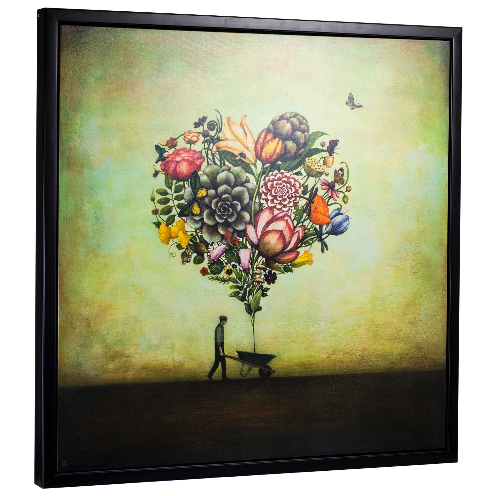 Big Heart Botany by Duy Huynh Framed Canvas Art Print 35\