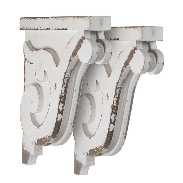 Wooden Corbel Shelf Brackets (Set of 2 brackets only)