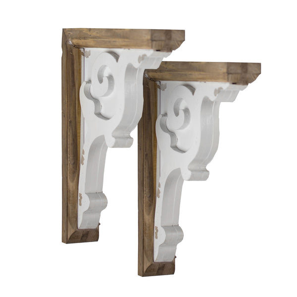 Wooden Corbel Farmhouse Shelf Brackets (Set of 2 brackets only)