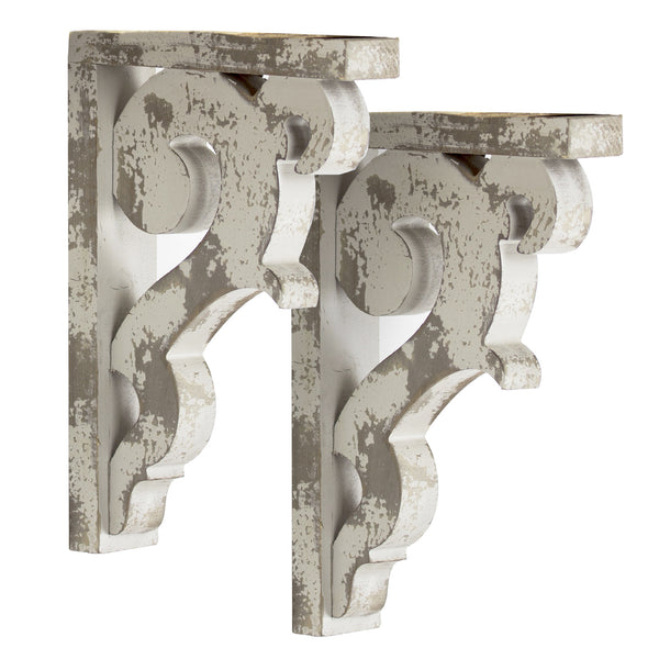 Rustic Farmhouse Wooden Corbel Shelf Brackets (Set of 2 brackets only)