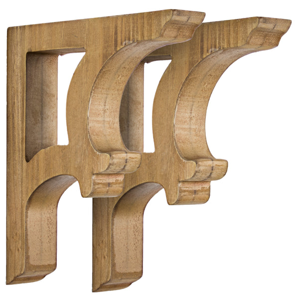 Wooden Corbels Shelf Brackets (Set of 2 brackets only)