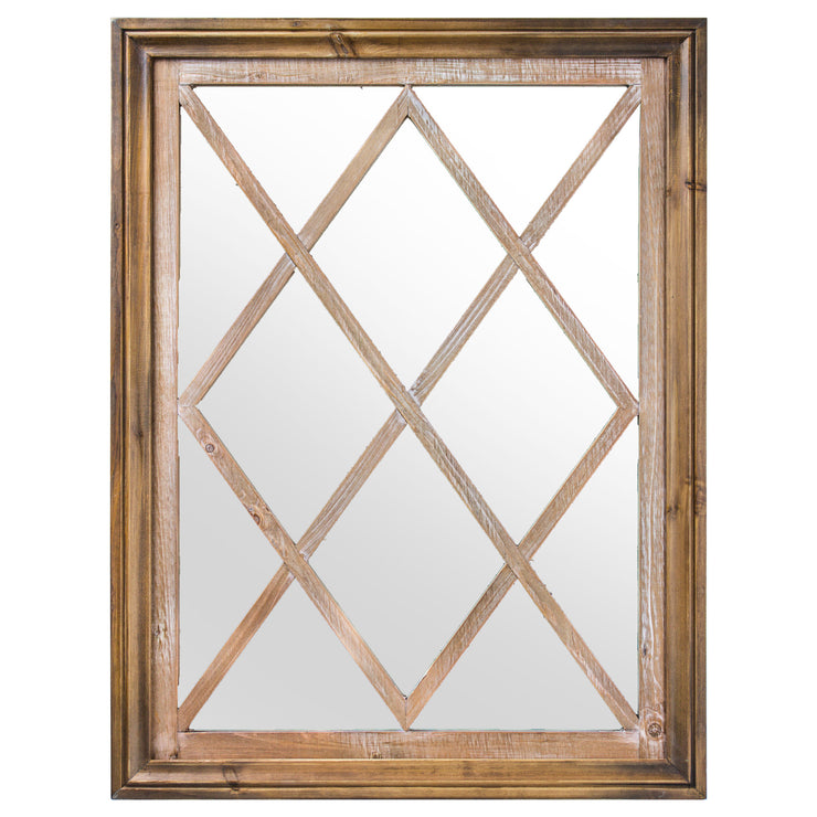 Rustic Window Pane Wall Vanity Mirror