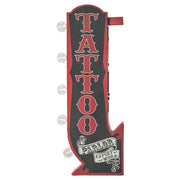 Tattoo Parlor Vintage LED Marquee Arrow Sign