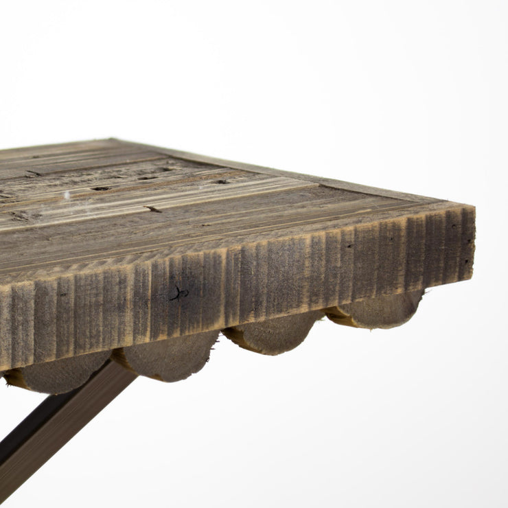 Scalloped Wood Rustic Floating Shelf (Large)
