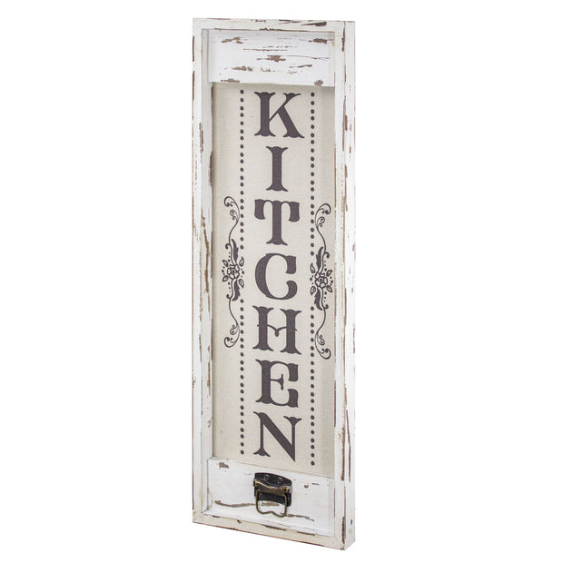 Kitchen Rustic Wood Canvas Art Sign