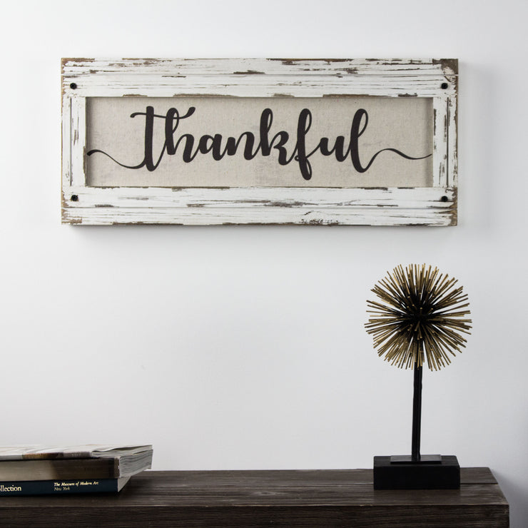 Thankful Inspirational Canvas Sign