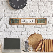 Blessed Inspirational Wood Canvas Sign