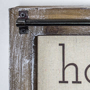 Home Sweet Home Rustic Wood Canvas Sign