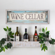 Rustic Wine Cellar Canvas Sign