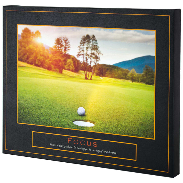 Focus Motivational Inspirational Canvas Print