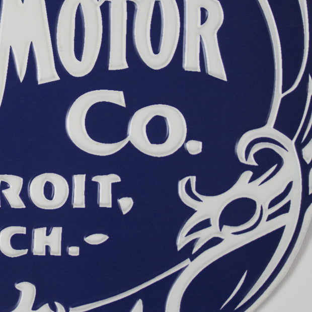 Ford Motor Co. Embossed Metal Sign