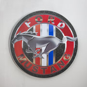 "Ford Mustang Dome Metal Sign (15"")"
