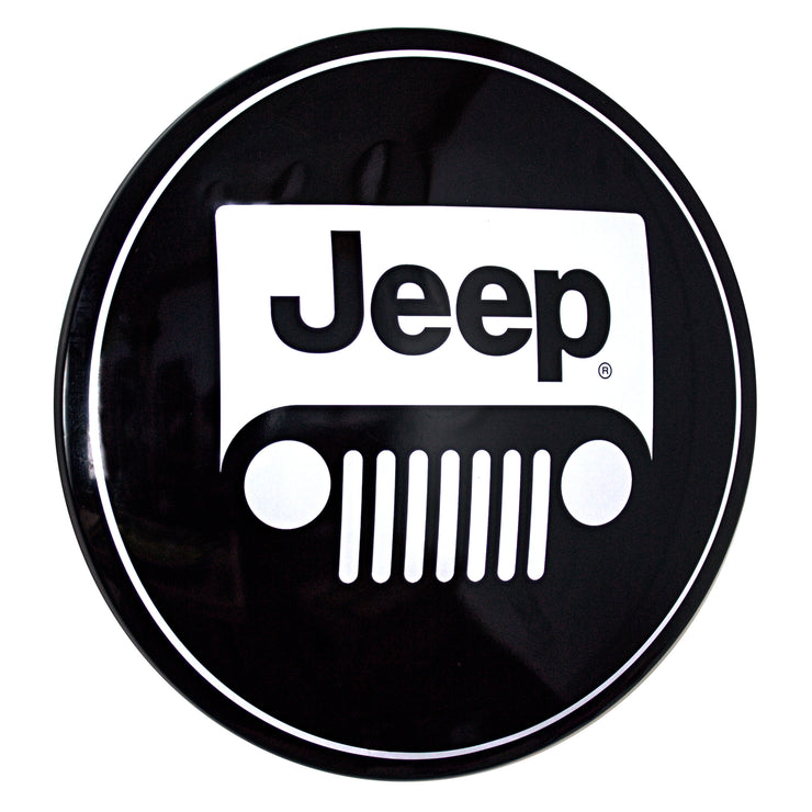 "Licensed Jeep Logo 15"" Dome  Metal Sign"