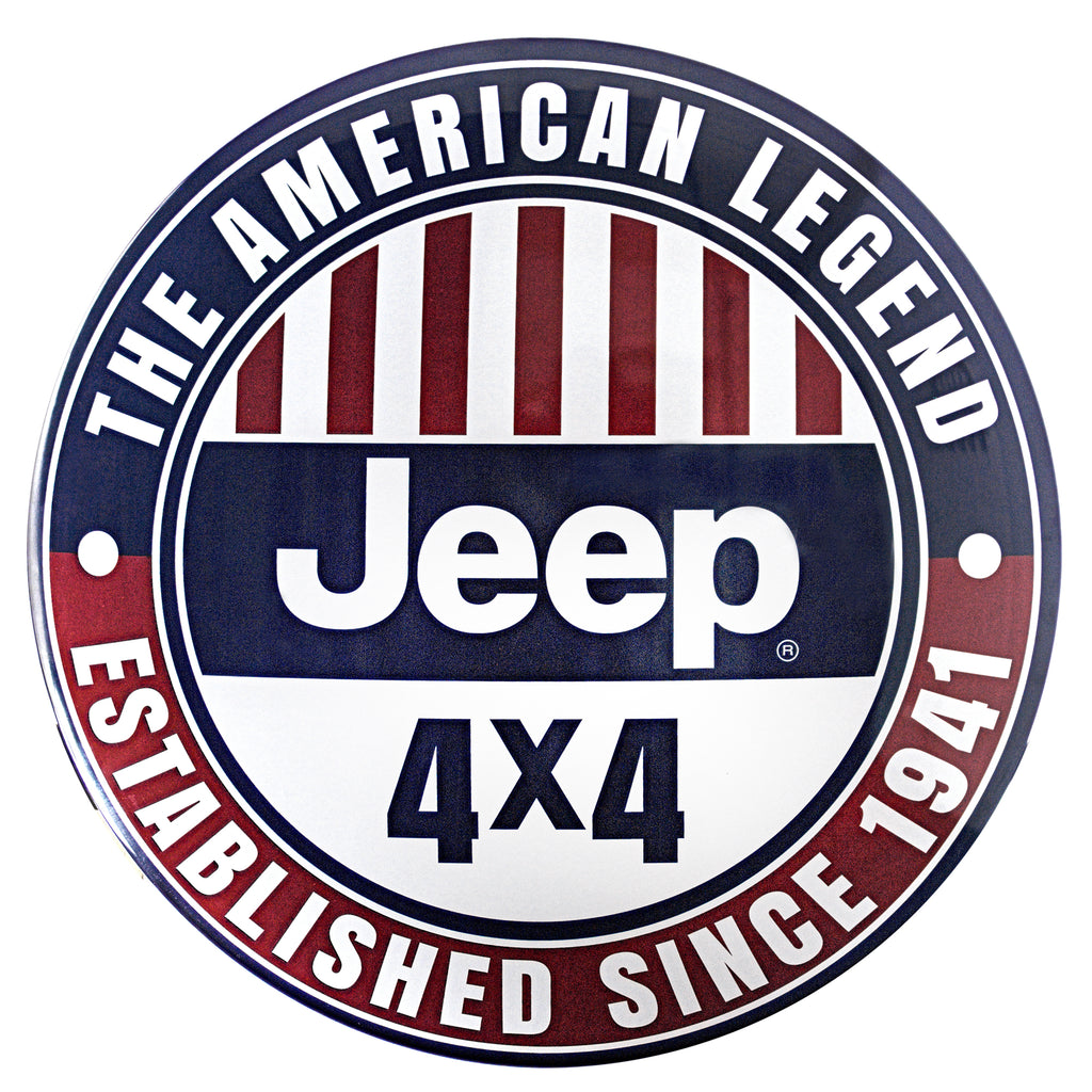Licensed Jeep 4 X 4 Metal Sign