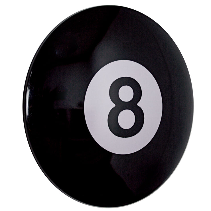 "Eight (8) Ball 15"" Dome Metal Sign"