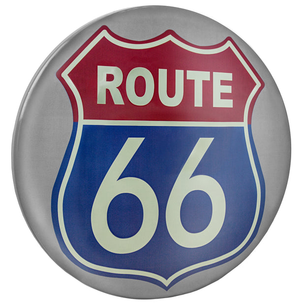 "Route 66 Dome Metal Sign (15"")"