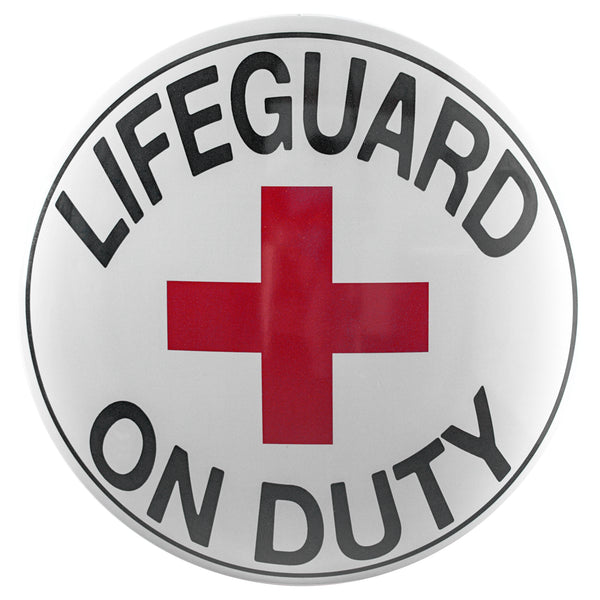 Lifeguard on Duty Metal Sign