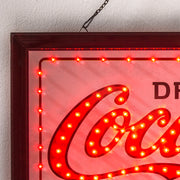 Coca Cola Drink in Bottles 5 Cents Framed LED Sign