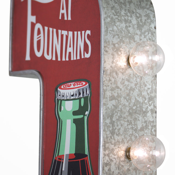 Officially Licensed Vintage Coca Cola in Bottles LED Marquee Sign