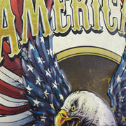 American Pride Embossed Metal Sign