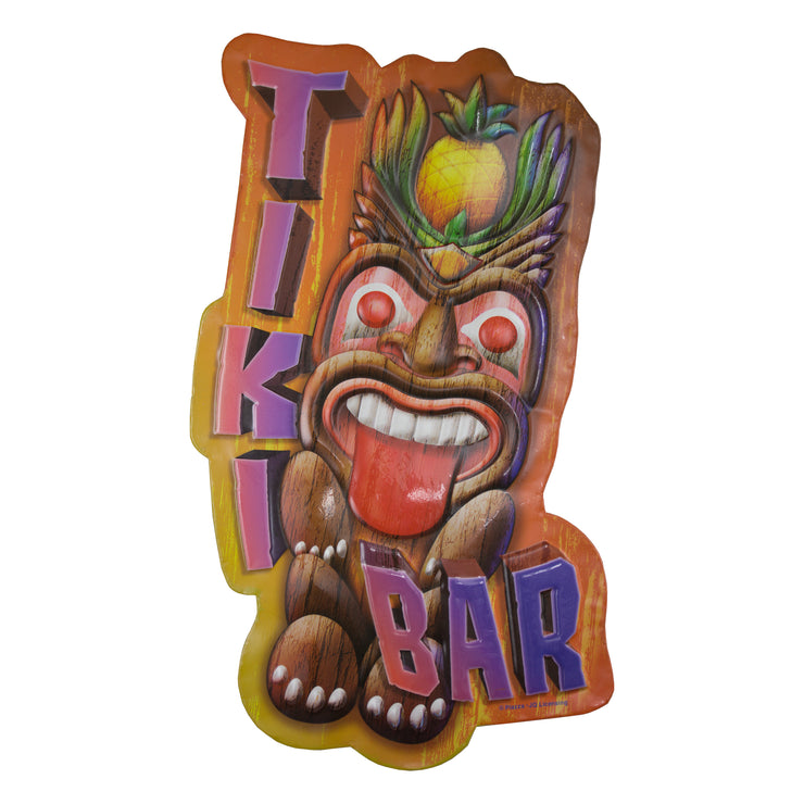 Tiki Bar Embossed Metal Sign