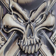 Gearhead Embossed Metal Sign