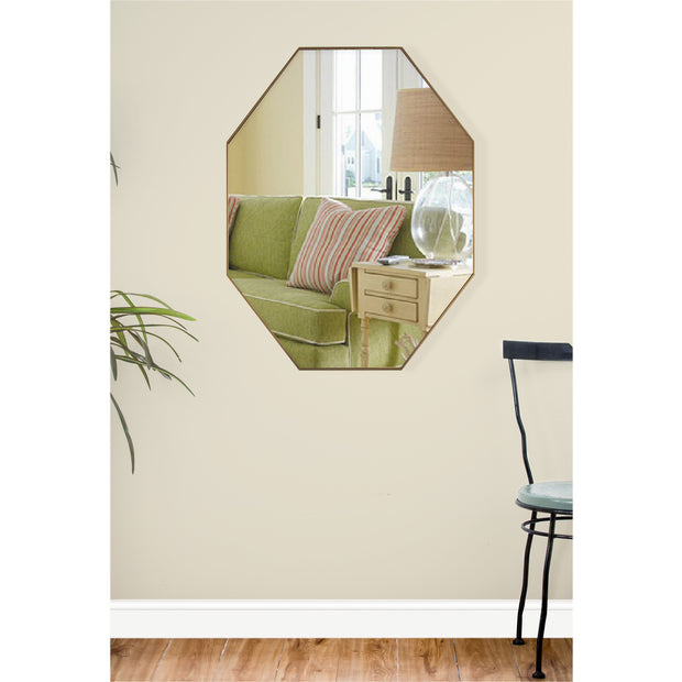 Octagon Wall Vanity Infinity Mirror - Gold