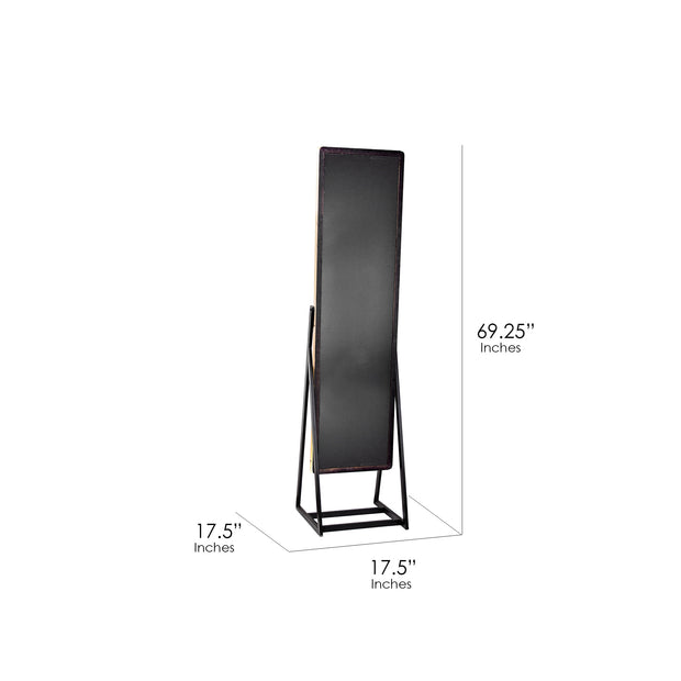 "Rustic Chevel Styled Standing 69"" Mirror"