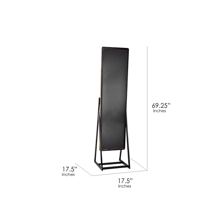 "Wooden Cheval Mirror 69""H"