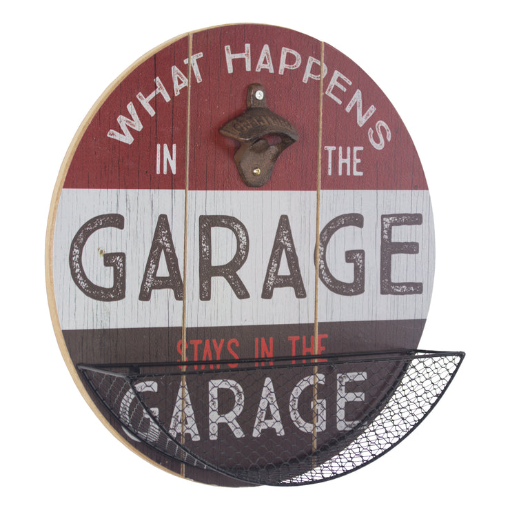 What Happens in the Garage Bottle Opener & Cap Catcher