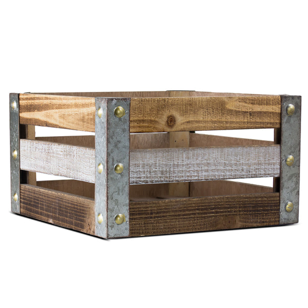 Rustic Wood Storage Crate - Medium
