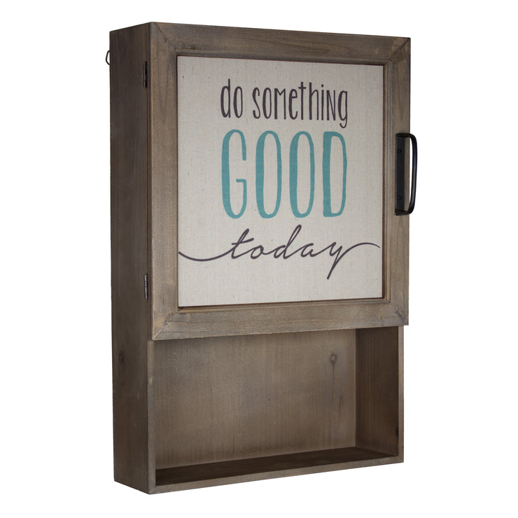 Vintage Canvas Cabinet with Shelves