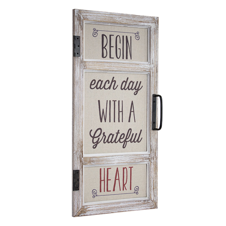 Begin Each Day with a Gratetful Heart Sign